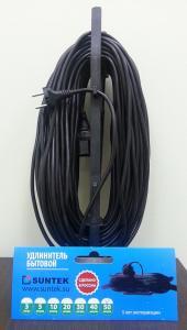 Фото  Удлинитель на рамке одноместный SUNTEK 2000 Вт (макс 2200 Вт) ГОСТ ПВС-ВП 3х1,0 с заземлением