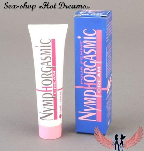 Фото Возбуждающие препараты для женщин (афродизиаки, капли, порошки, жвачки, таблетки, капсулы, крема) Возбуждающий женский крем Nymphorgasmic Cream