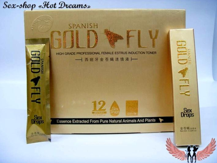 Женский возбудитель Gold Fly, Золотая мушка (12 шт)
