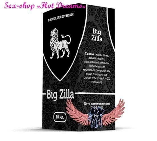 Фото Препараты для повышения потенции (капсулы, капли, таблетки, порошки) Биг Зилла/Big Zilla капли для повешения потенции