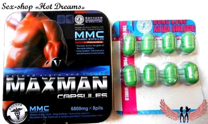 Фото Препараты для повышения потенции (капсулы, капли, таблетки, порошки) Мужской возбудитель Maxman 5,4,3 для повешения потенции