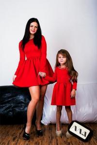 Фото Наряды для мам и дочек Платье женское и детское