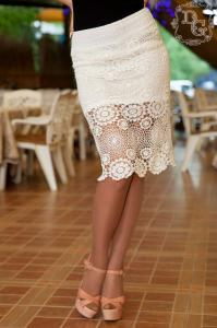 Фото Юбки Юбка женская кружевная