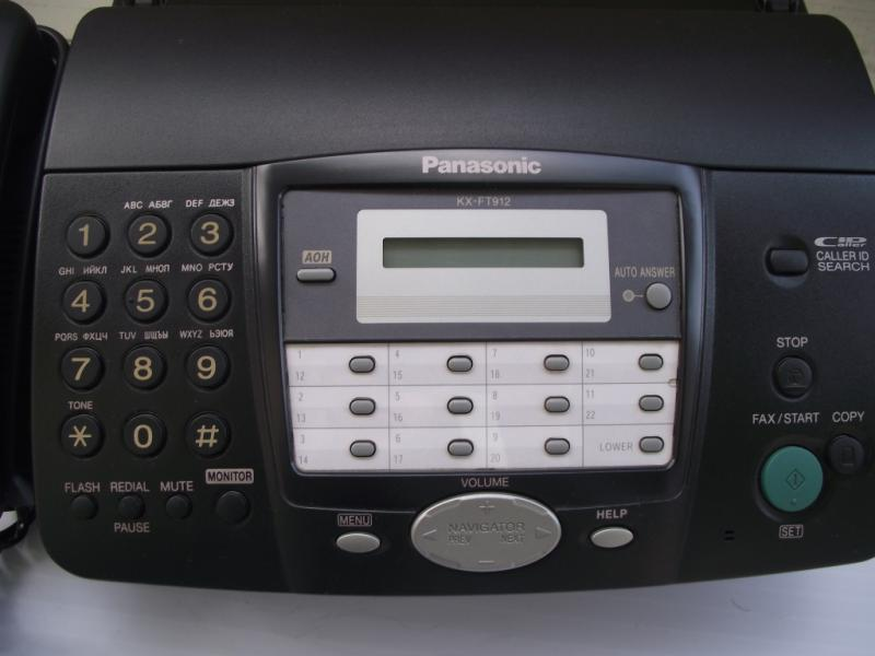 Факс «PANASONIC» KX-FT 914 UA