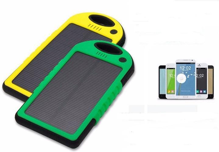 Солнечная батарея панель зарядное устройство двойное USB  5000 мАч Противоударная водонепроницаемая