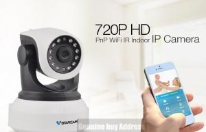 Фото Видеонаблюдение WIFI IP камера видеонаблюдения VSTARCAM беспроводная Wi-Fi  ночного видения аудио запись видео HD сеть ONVIF 2.0