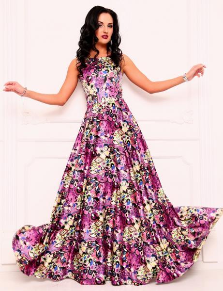 Платье сливовое