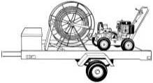 Барабан для спиралей вместимостью 150 м. CR-1A