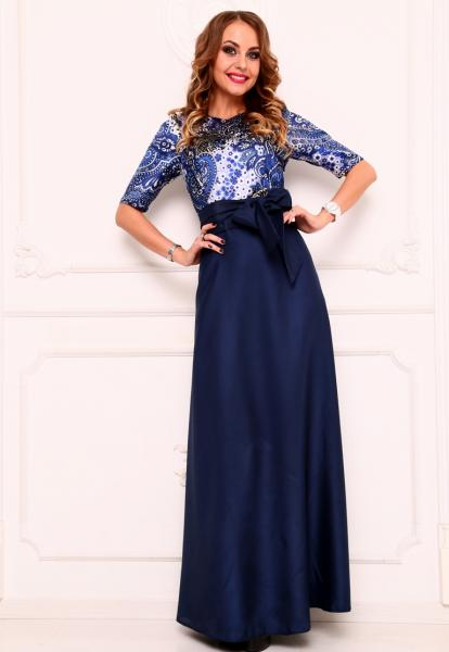 Платье с цветным верхом