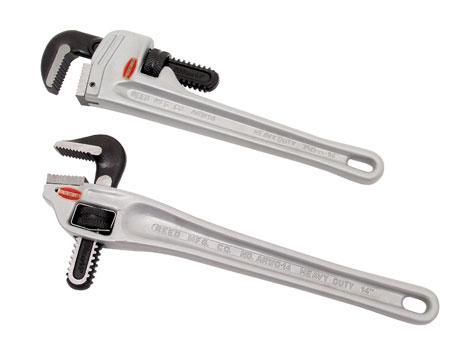 Алюминиевый трубный ключ с наклоном 90°