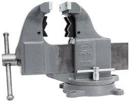 Фото  Комбинированные верстачные трубные тиски (с поворотным основанием)