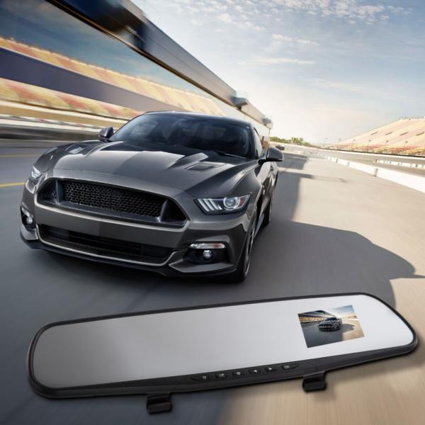 Видеорегистратор автомобильный зеркало заднего вида  экран  2,7 '' HD 1080 P детектор движения ночного видения g-сенсор циклическая запись