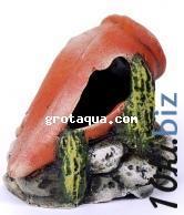 Декорации для аквариума - К-04 Амфора на камнях