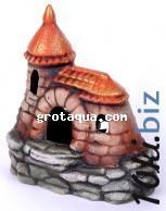 К -13 Замок с черепицей Декорации для аквариума в России