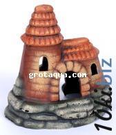 К -14 Замок с высокой крышей Декорации для аквариума в России