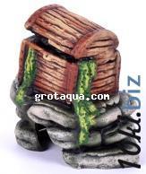 Декорации для аквариума - К-17 Сундук на камнях