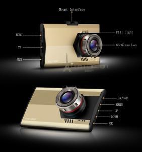 Фото Автомобильные видеорегистраторы Видеорегистратор автомобильный Full HD 1080 P G-170 градусов объектив 2,8 дюйма обнаружение движения ночного видения ультра тонкий