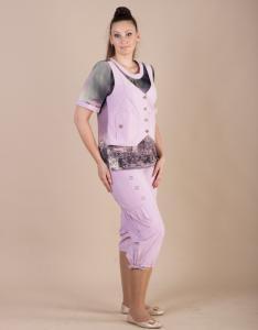 d85df08d334b ... Фото Летние женские костюмы от ТМ Interbest Модный женский брючный  костюм Роксолана ...