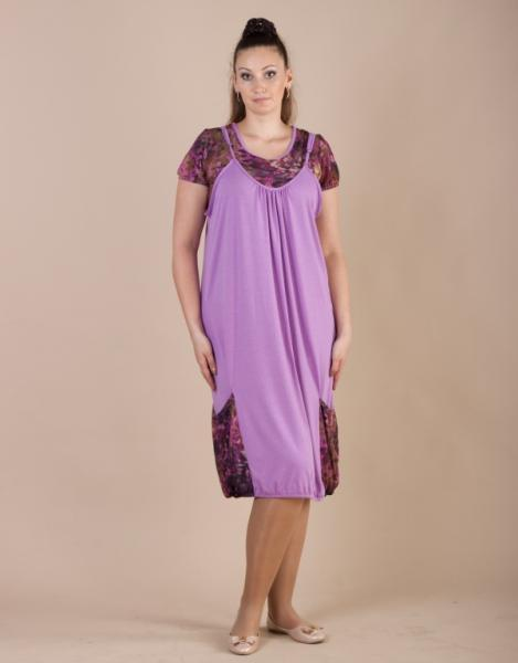 Трикотажное платье-сарафан Валя