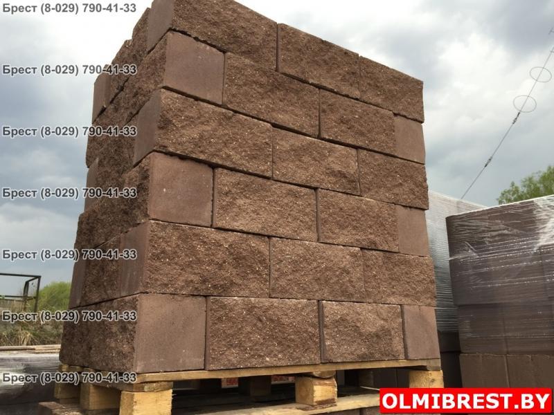 Блоки рваный камень для заборов