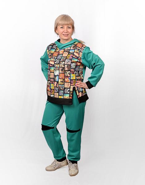 Женский спортивный костюм с принтом СК-0009