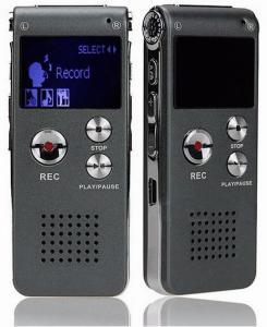 Фото Цифровые диктофоны Mp3 плееры QC-09 Профессиональный цифровой мини диктофон 8Гб встроенной памяти с функцией mp3-плеер