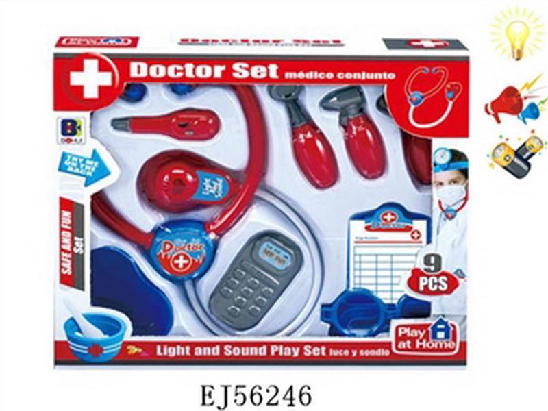 02661202 Доктор 661-202, набор 9 предм., батар., свет, звук, в кор.
