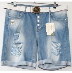 ЦЕНА - 299 грн.(шт.) Шорты джинсовые женские ПОЛУБАТАЛ BYZERGA 200 - Z6480 ARA MAVI