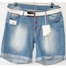 ЦЕНА - 299 грн.(шт.) Шорты джинсовые женские ПОЛУБАТАЛ BYZERGA 200 - Z6485 ARA MAVI