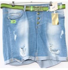 ЦЕНА - 299 грн.(шт.) Шорты джинсовые женские ПОЛУБАТАЛ BYZERGA 200 - Z6482 ARA MAVI