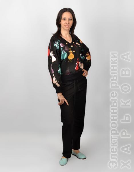 e70183c5969 Черный женский трикотажный костюм СК 221 - Женские костюмы на рынке  Барабашова