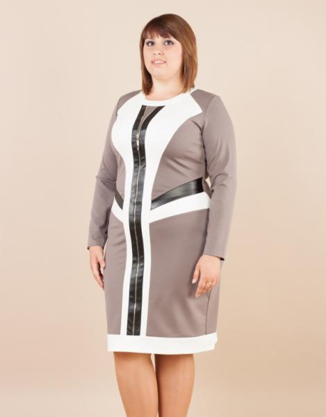 Женское трикотажное платье Ася