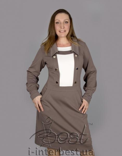 Удобное трикотажное платье Айа