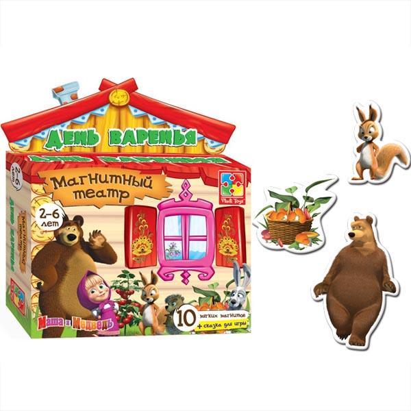 Магнитный театр «День варенья » Маша и медведь Vladi toys VT3206-05