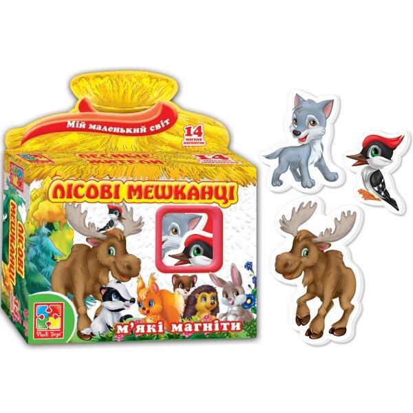 Мягкие магниты «Лесные жители» (укр.) Vladi Toy VT3101-04
