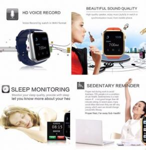 Фото Умные смарт часы и фитнес браслеты Youwell GD19 умные смарт часы телефон фитнесс трекер Вluetooth Smart Watch для Аndroid и IOS с видеокамерой слот под сим карту МР3 плеер
