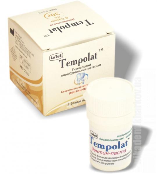 Фото Для стоматологических клиник, Материалы, Временные материалы Tempolat (Темполат) дентин-паста 30г