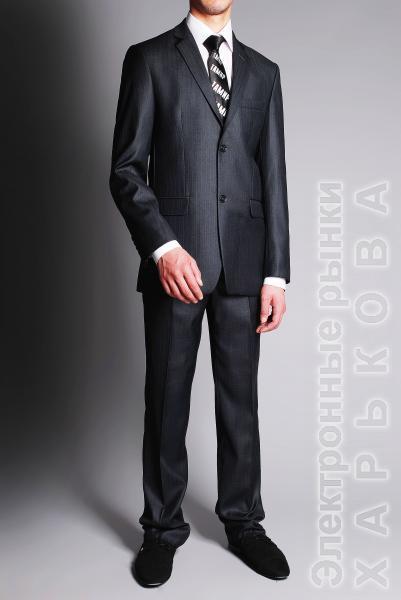 Костюм серый с блеском - Мужские классические костюмы, смокинги на рынке Барабашова