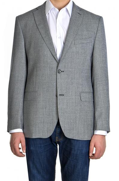 Пиджак шерстяной серый