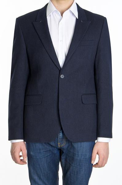 Пиджак темно-синий  шерстяной