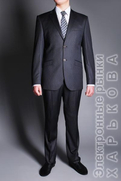 Костюм серый матовый - Мужские классические костюмы, смокинги на рынке Барабашова