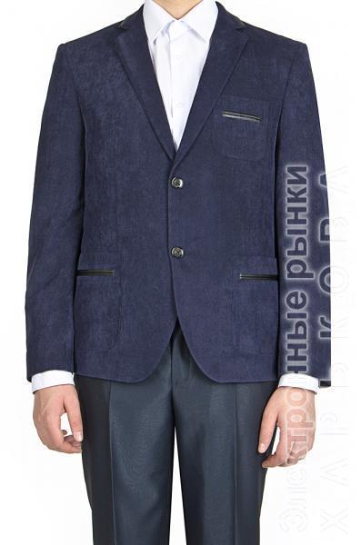Пиджак вельветовый, синий - Пиджаки мужские на рынке Барабашова
