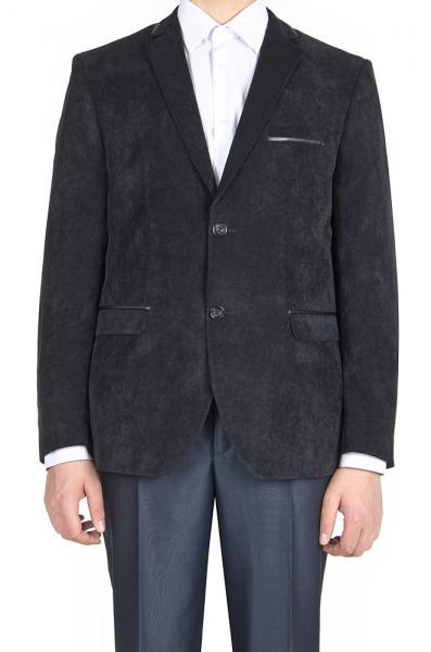 Пиджак вельветовый, чёрный