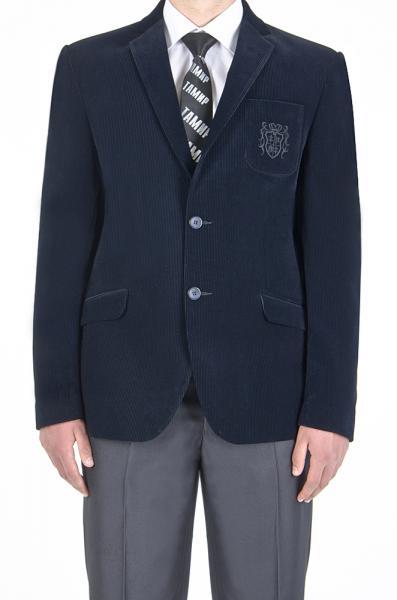 Пиджак велюровый, синий