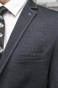 Фото Пиджаки Приталенный пиджак серого цвета из стрейчевой ткани.