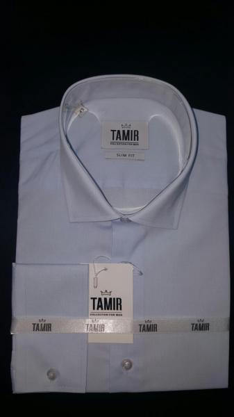 Рубашка Slim Fit голубая
