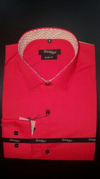 Рубашка Slim Fit красная