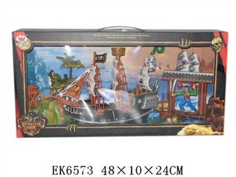 01013814 Пиратский корабль 13814, с аксесс., в кор. 48x10x24 см