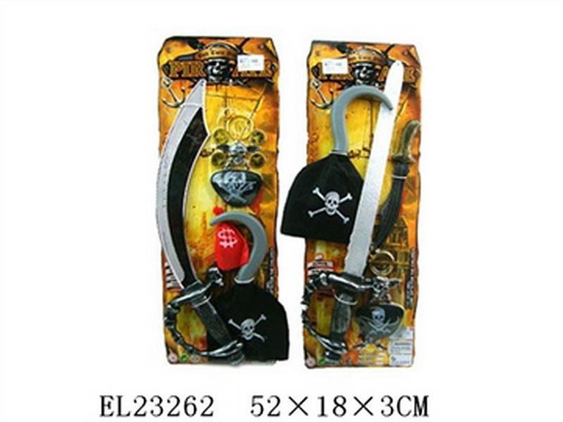 01006634 Пиратский набор U66-34, на листе 52x18x3 см