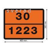 Фото Маркировка транспорта, Таблички опасныйгруз Табличка рельефная «Опасный груз» с кодом ООН